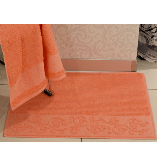 Полотенце для ног TAC махровое CALVARO 50x70 см (коралловый)