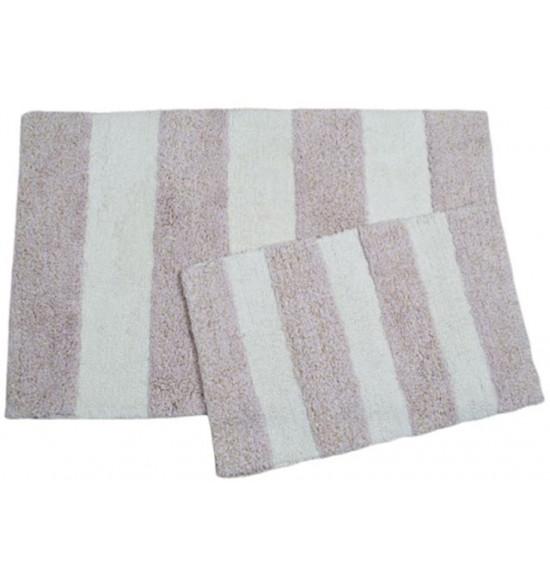 Набор ковриков с люрексом Irya Kate 60x90-40x60 см (розовый)