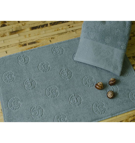 Полотенце для ног TAC махровое MERRY 50x70 см (серо-голубой)