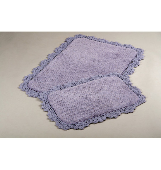 Набор ковриков Irya Serra 60x90-40x60 сиреневый