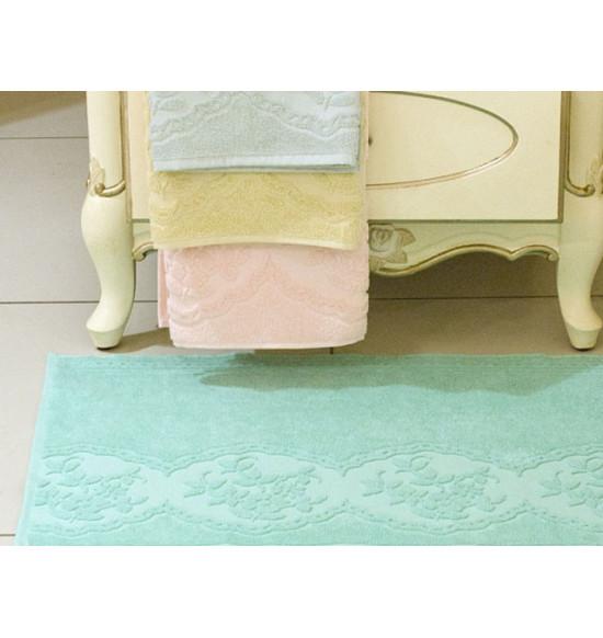 Полотенце для ног TAC махровое WAYNE 50x70 см (светло-желтое, розовое)