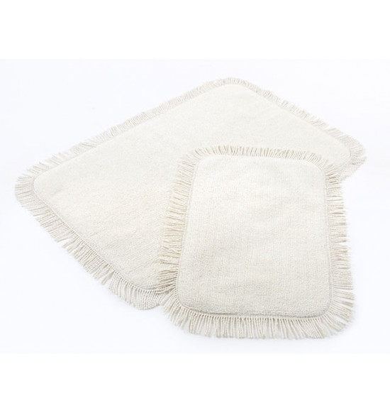 Набор ковриков Irya Axis 60x90-40x60 см (кремовый)