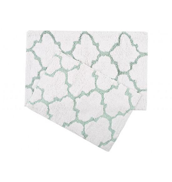 Набор ковриков Irya Bali 45x60-50x80 см (крем-бирюза)