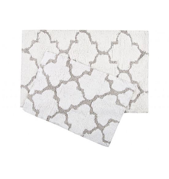 Набор ковриков Irya Bali 45x60-50x80 см (белый-серый)
