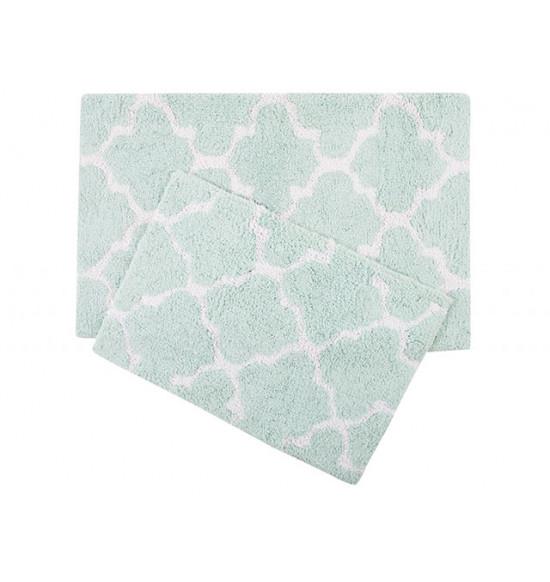 Набор ковриков Irya Bali 45x60-50x80 см (бирюзовый)