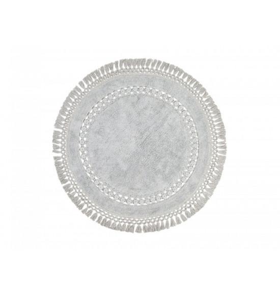 Коврик круглый Irya Bess d 100 см серый