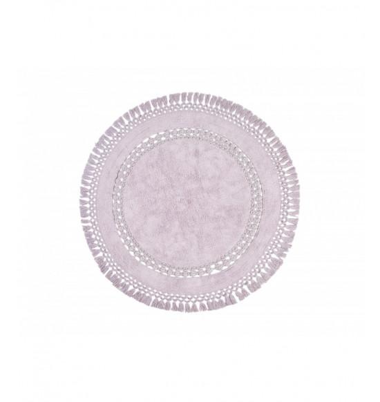Коврик круглый Irya Bess d 100 см фиолетовый