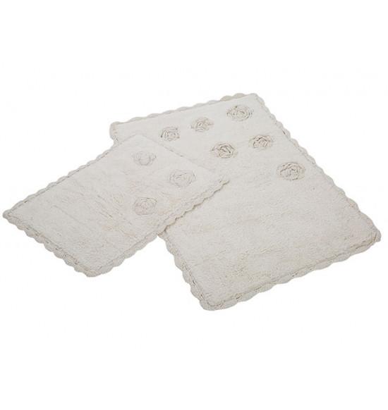 Набор ковриков Irya Blossoms 60x90-40x60 см (кремовый)