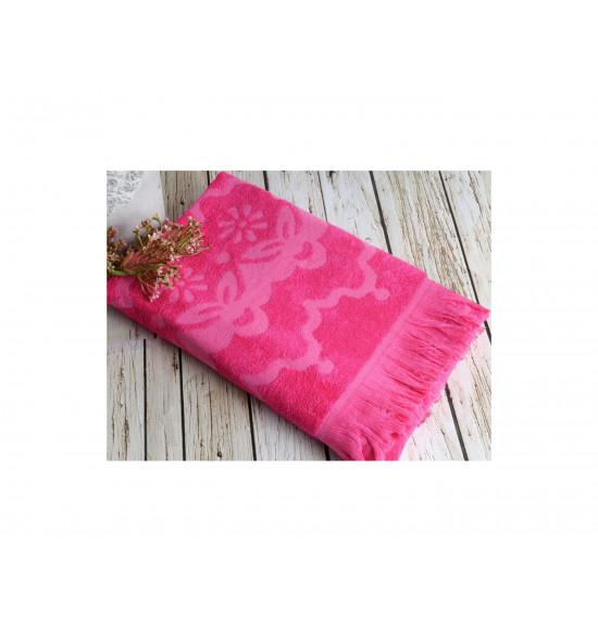 Полотенце бамбуковое для пляжа Irya Daisy 90x170 фуксия