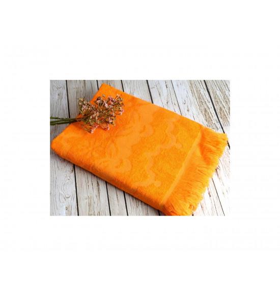 Полотенце бамбуковое для пляжа Irya Daisy 90x170 оранжевый