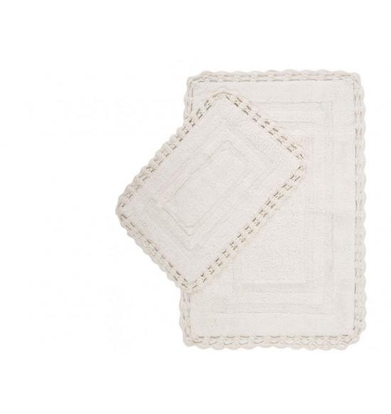 Набор ковриков Irya Debra 60x90-40x60 см (крем)