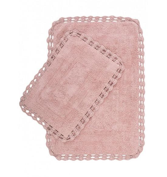 Набор ковриков Irya Debra 60x90-40x60 см (грязно-розовый)