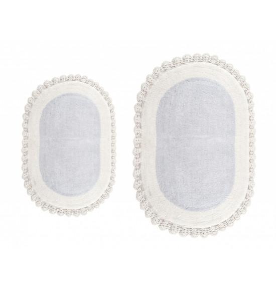 Набор ковриков Irya Despina 60x90-40x60 серо-голубой