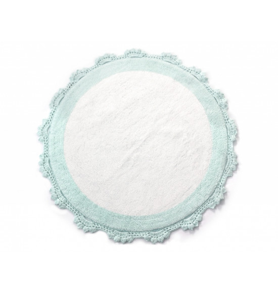 Коврик круглый в ванную Irya Doreen 90x90 минт/белый