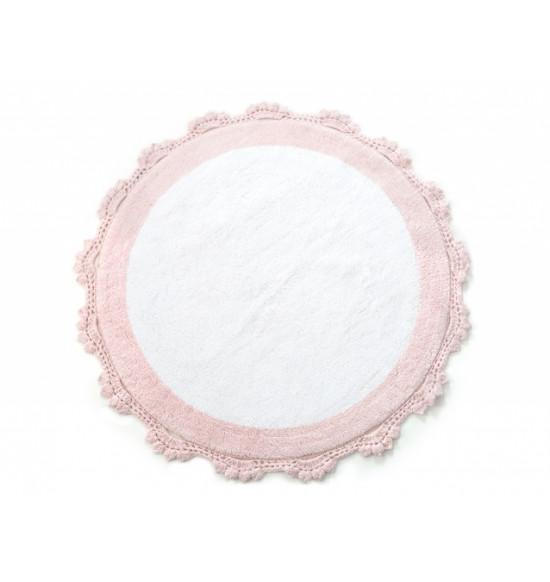 Коврик круглый в ванную Irya Doreen 90x90 розовый/белый