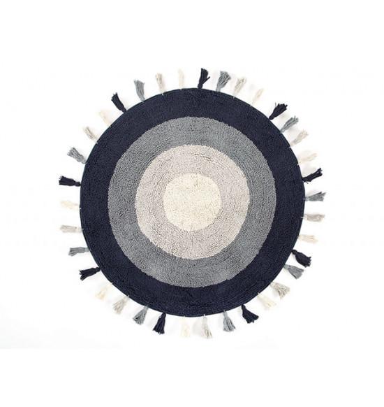 Коврик круглый Irya LAURA 90x90 синий-серый