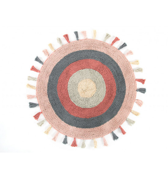 Коврик круглый Irya LAURA 90x90 розовый-серый