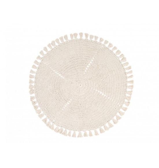Коврик круглый Irya Olita d 100 см светло-бежевый