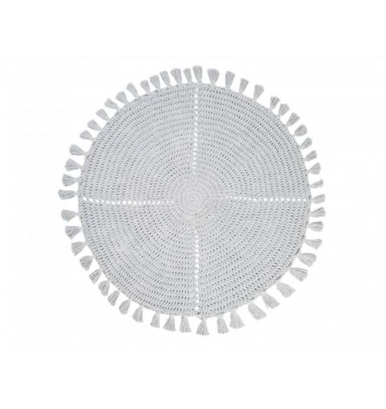 Коврик круглый Irya Olita d 100 см серый