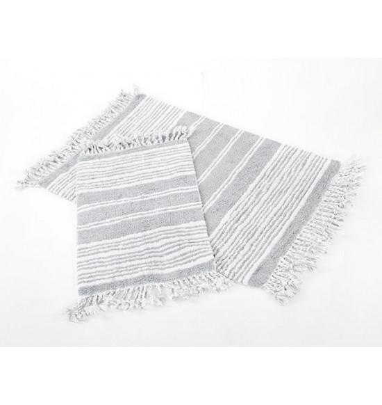 Набор ковриков Irya Relax 60x90-40x60 см (серый-кремовый)