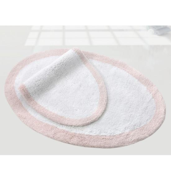 Набор ковриков Irya Rosabella 55x86-40x60 белый/розовый