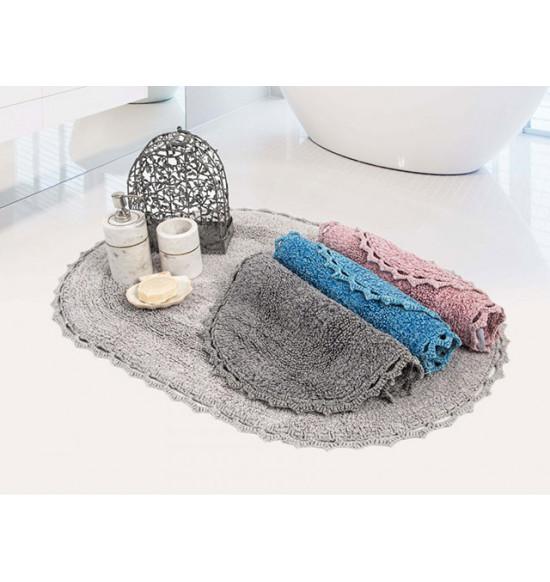Набор ковриков Irya Vermont 60x90-40x60 темно-серый