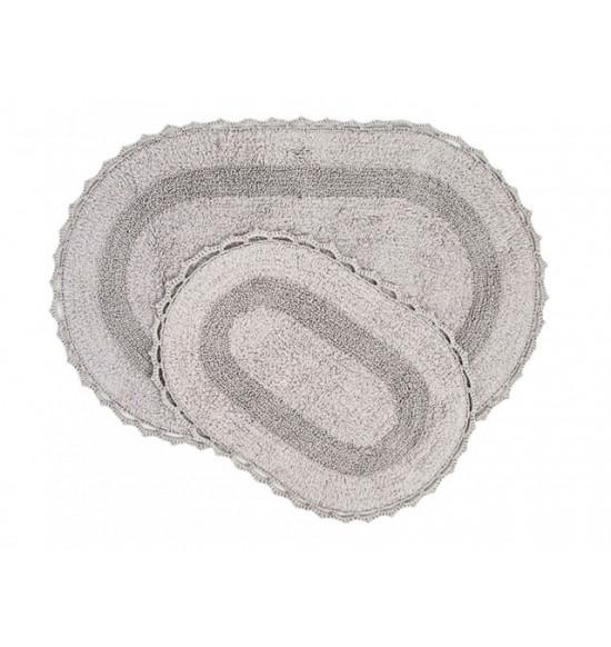 Набор ковриков Irya Vermont 60x90-40x60 серый