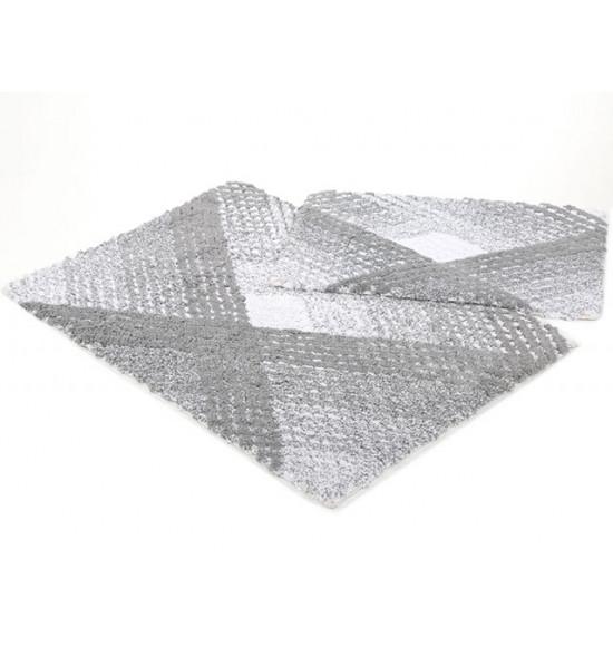 Набор ковриков Irya Wall 60x90-40x60 см (серый)