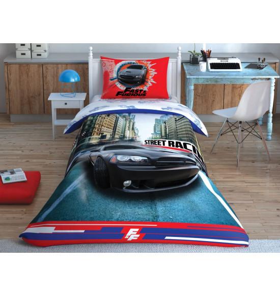 Постельное белье TAC 1.5 сп. Ranforce Fast&Furious