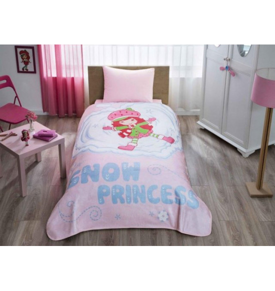 Плед детский TAC STRAWBERRY SHORTCAKE 160х220 см