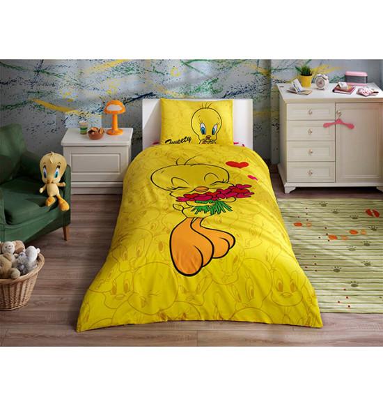 Детское постельное белье TAC 1.5 сп. Tweety Hearts
