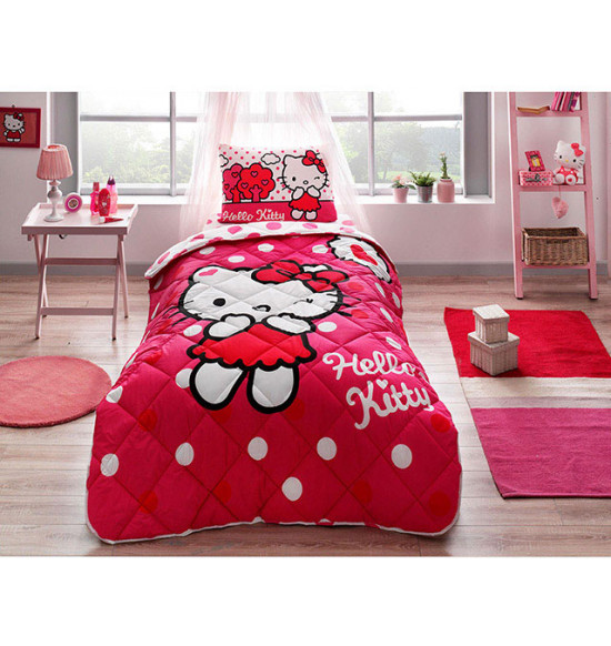 Детский комплект постельный с одеялом TAC Hello Kitty