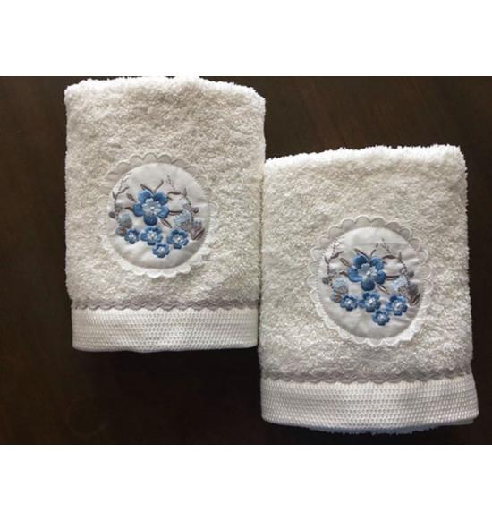 Полотенце с вышивкой TAC ODINA 50x90 см (крем)