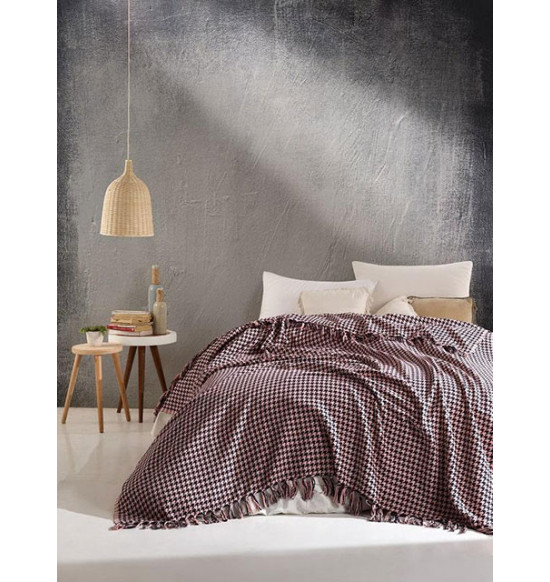 "Плед ""DIVA"" Grand Cotton 200х220 см (розово-черный)"