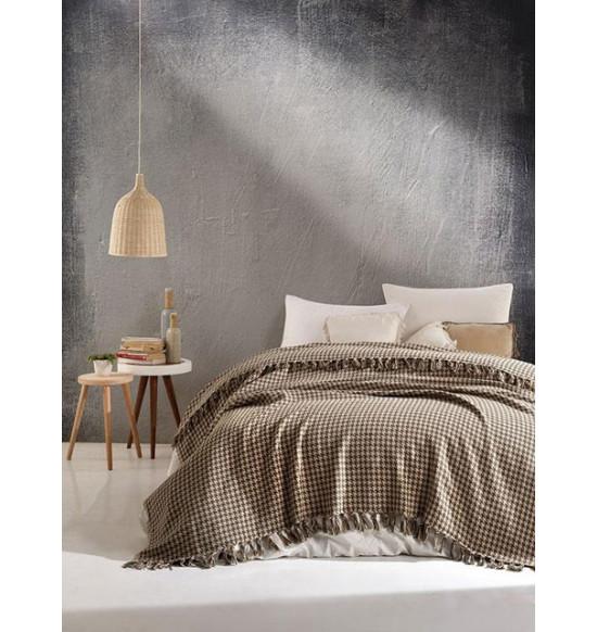 "Плед ""DIVA"" Grand Cotton 200х220 см (коричневый)"