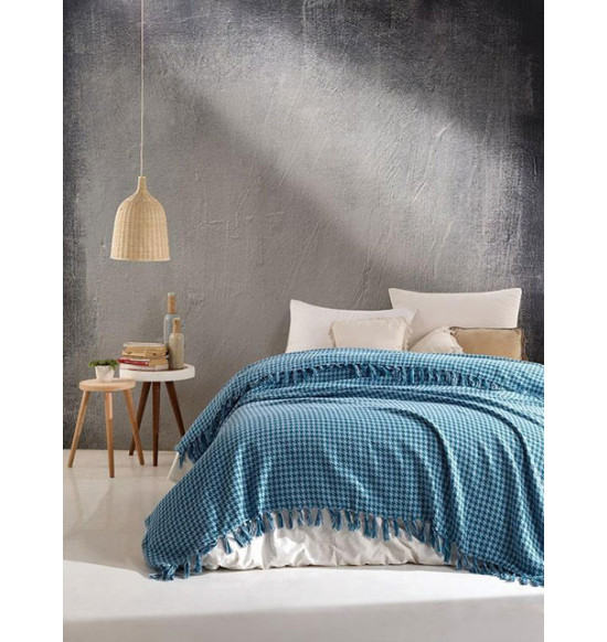 "Плед ""DIVA"" Grand Cotton 200х220 см (бирюзовый)"