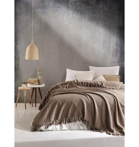 "Плед ""DIVA"" Grand Cotton 200х220 см (темно-коричневый)"