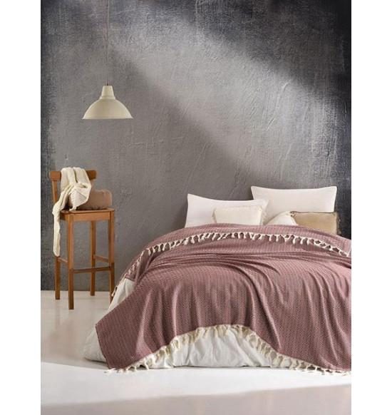 "Плед ""DIVA"" Cotton 200х220 см (коричневый)"