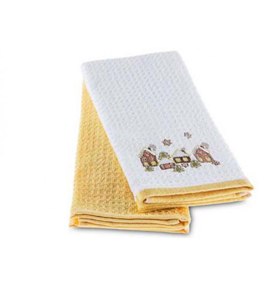 Набор махровых салфеток с вышивкой Tac Brownhome 40x70 см 1/2