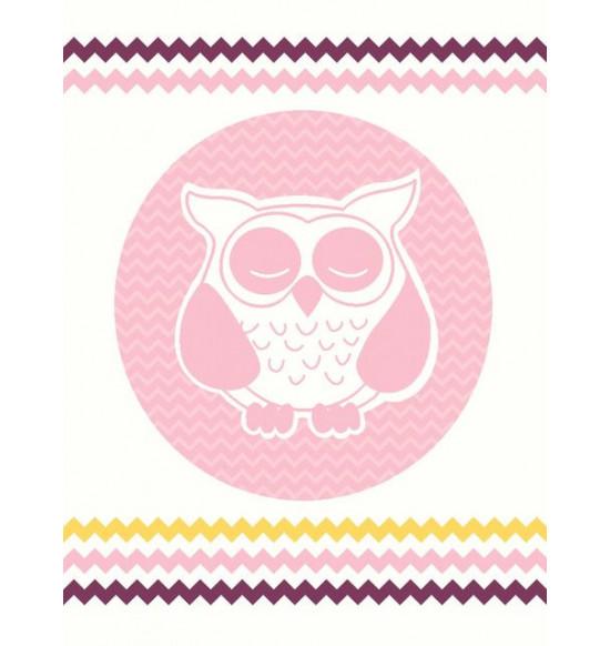 """Плед детский """"KARNA"""" Bird 90x120 см (розовый)"""