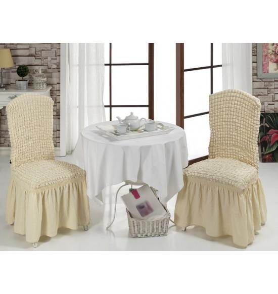 Чехлы на стулья 2 шт. (Натурал)