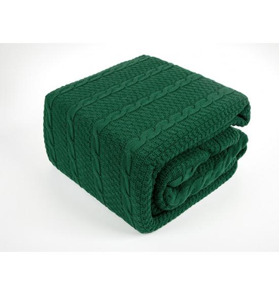 "Плед вязаный ""KARNA"" SILVIA 220х240 см (зеленый)"