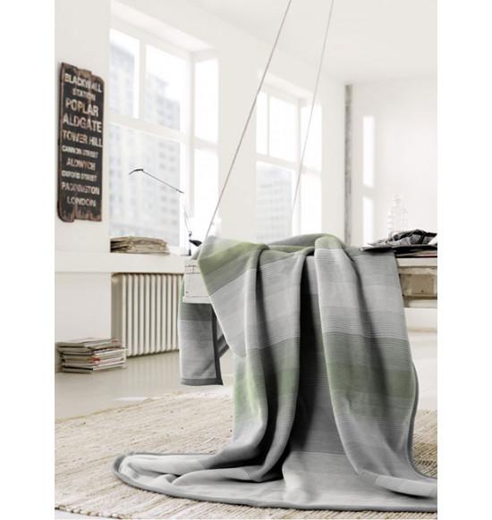 """Плед """"Bocasa"""" Stripe olive 150х200 см"""
