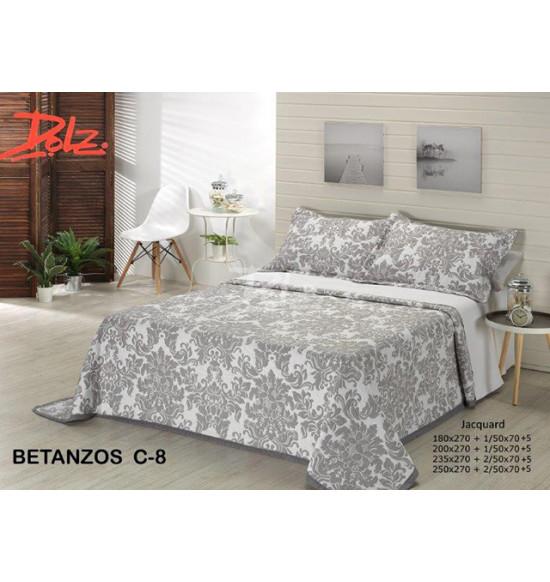 "Покрывало ""Dolz"" Betanzos grey 230х270 + 2 нав."
