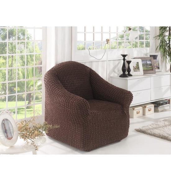 """Чехол для кресла """"BULSAN"""" (без юбки) (коричневый)"""