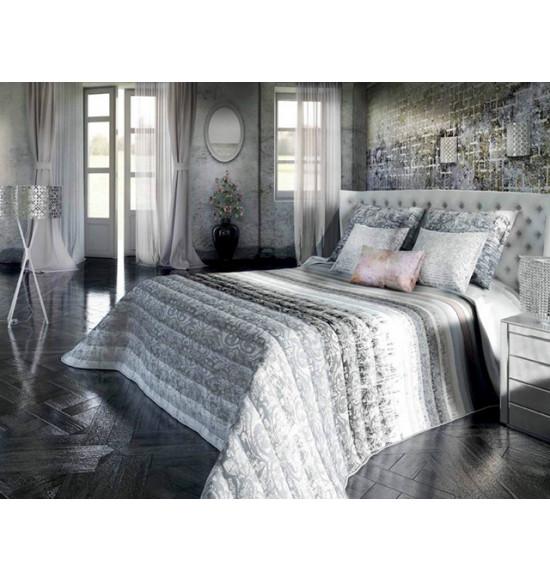 """Покрывало """"Algodon Blanco"""" Damis gris 250x270+2 нав."""