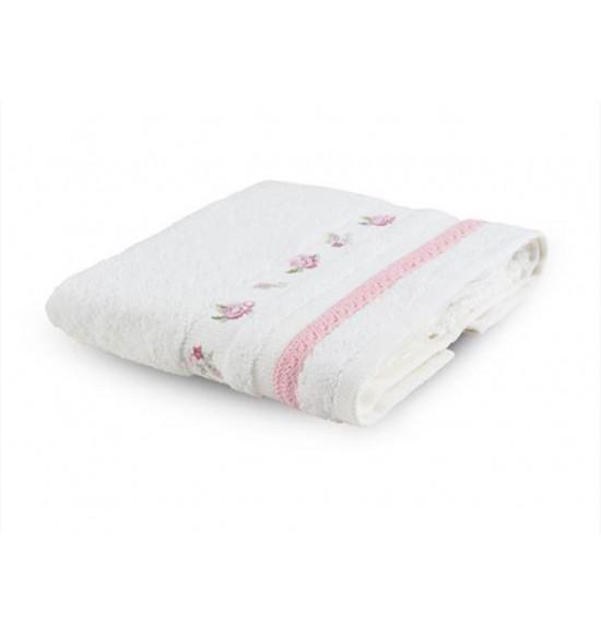 Полотенце с вышивкой TAC ARGAN  50x90 см (крем)