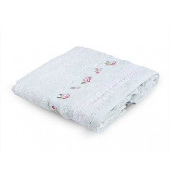 Полотенце с вышивкой TAC ARGAN  50x90 см (минт)