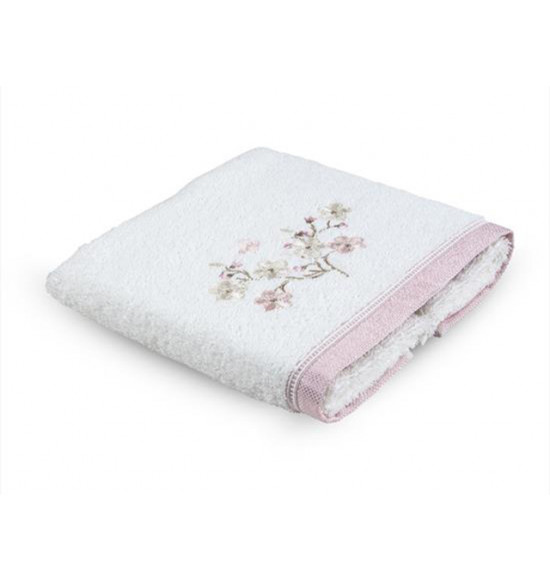 Полотенце с вышивкой TAC ARTUS 50x90 см розовое, кремовое, минт