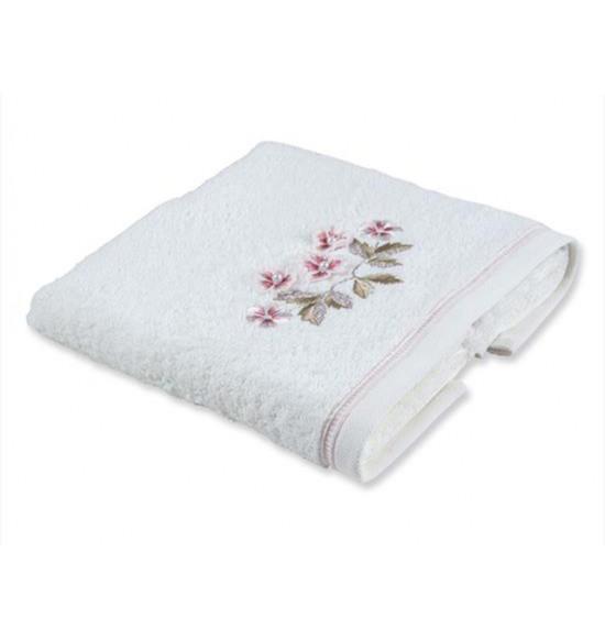 Полотенце с вышивкой TAC ARUBA  50x90 см крем